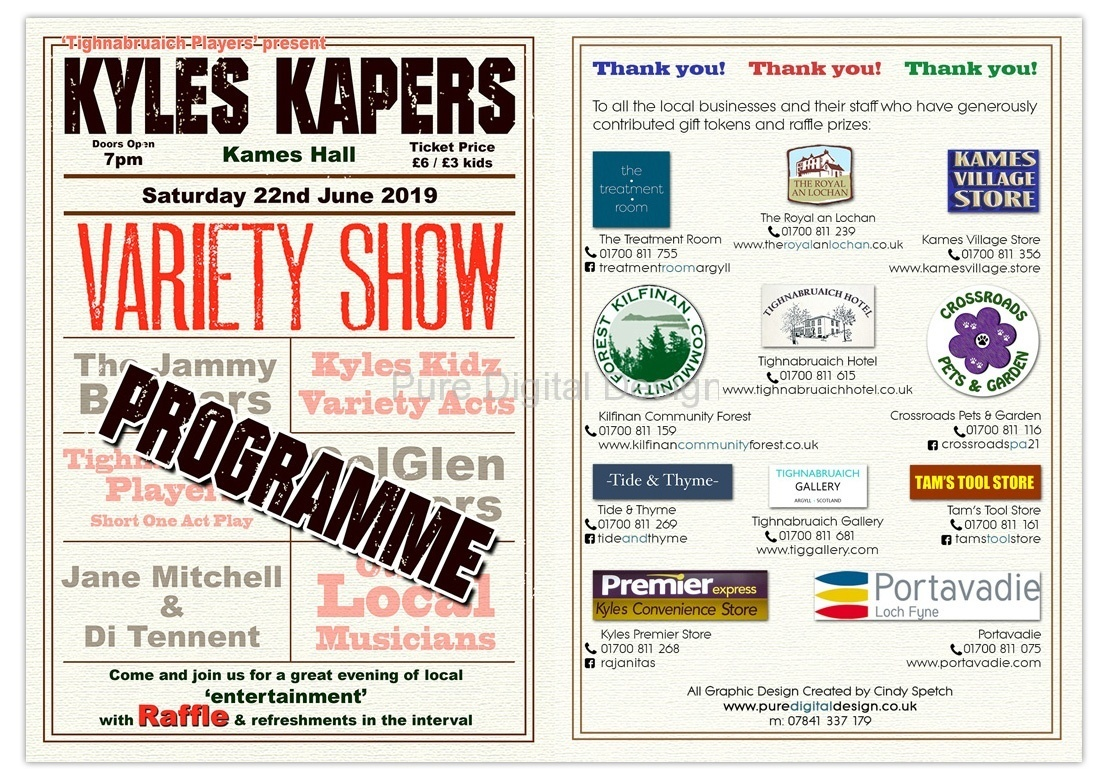 Variety Show Programme